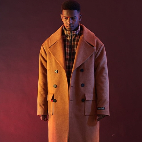 [30%할인][OVER THE ONE]  WIDE LAPEL DOUBLE COAT (CAMEL)