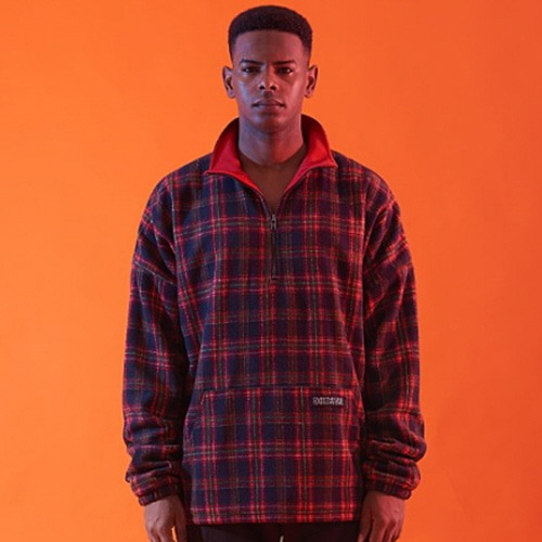 [30%할인][OVER THE ONE]  CHECK PATTERN ANORAK ZIP (RED CHECK)