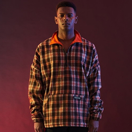 [30%할인][OVER THE ONE]  CHECK PATTERN ANORAK ZIP (BROWN CHECK)