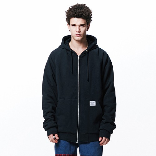 [053] BOA OVER FIT HEAVY ZIP HOODIE (BLACK)