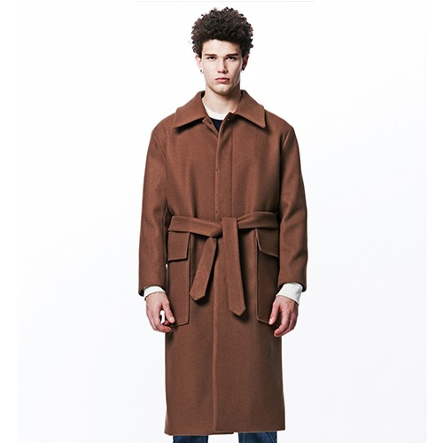 [209] HEAVY WOOL OUT-POCKET COAT (CAMEL)