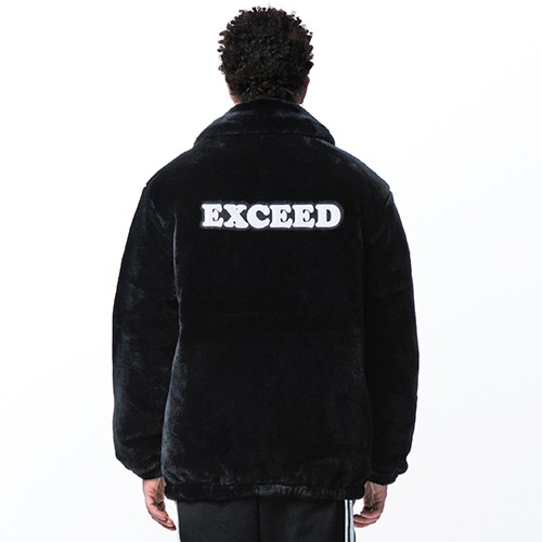 [엑소 세훈착용] [065] SLOGAN FUR HEAVY JACKET (BLACK)
