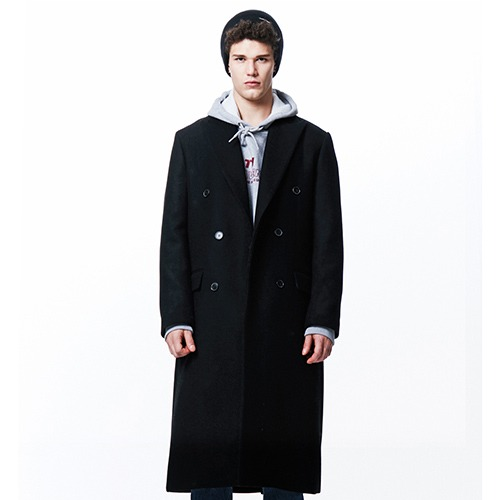[210] HEAVY WOOL DOUBLE COAT (BLACK)