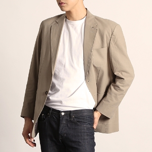 [218]STITCH BASIC BLAZER(DEEP BEIGE)