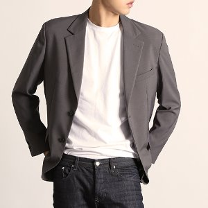 [204]BASIC FIT BLAZER(GRAY)