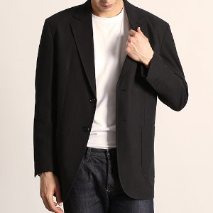 [218]STITCH BASIC BLAZER(BLACK)