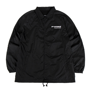 [196]SEASON PRINTING COATCH JACKET(BLACK)