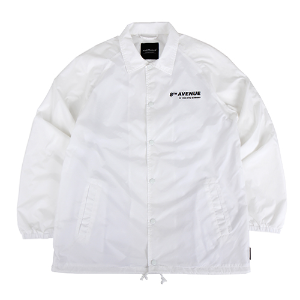 [196]SEASON PRINTING COATCH JACKET(WHITE)