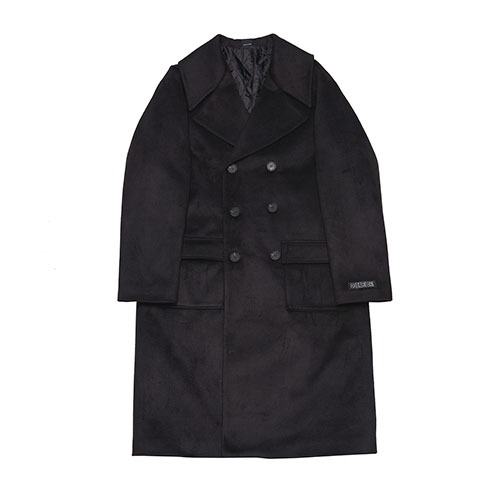 [051] WIDE LAPEL DOUBLE COAT (BLACK)