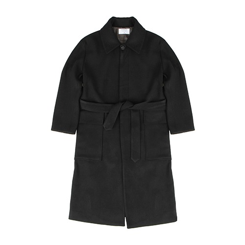 [209] HEAVY WOOL OUT-POCKET COAT (BLACK)