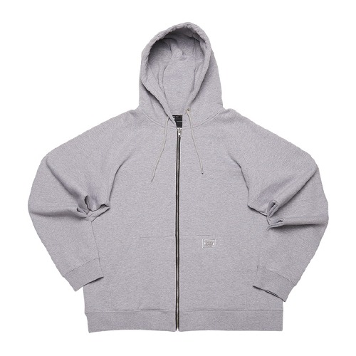 [112]OVER FIT HEAVY ZIP HOODIE(GRAY)